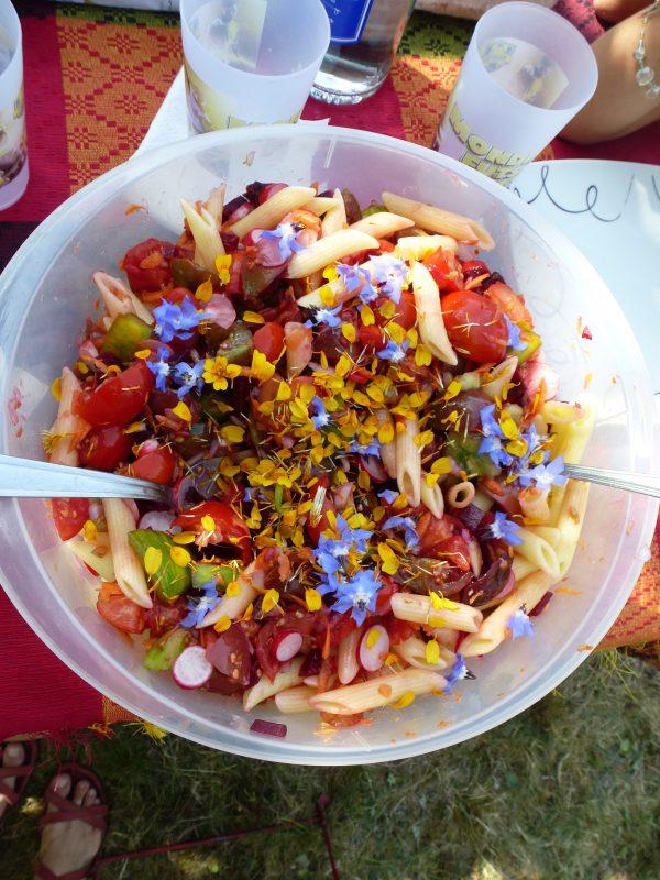 Salade faite par tout le monde avec les légumes du jardin